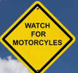 yield sign watch for motorcycles